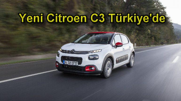 Tam otomatik şanzımanlı yeni Citroen C3 Türkiye'de