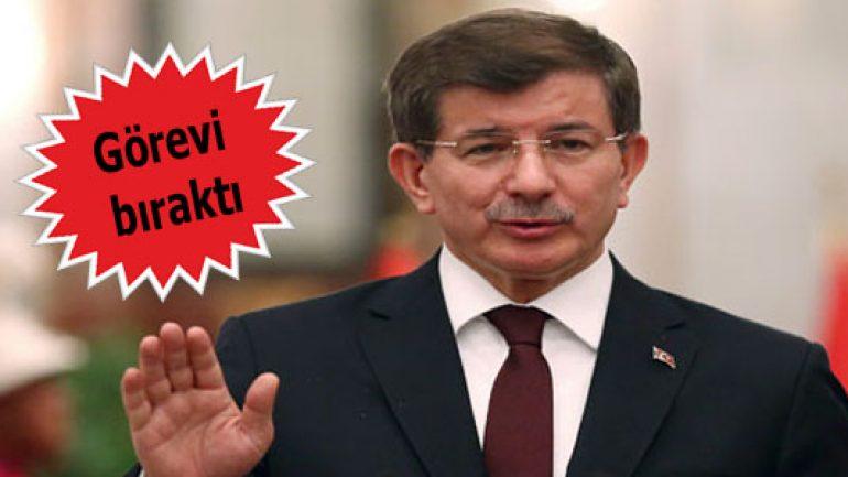 Davutoğlu başbakanlık koltuğunu bırakıyor