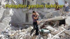 Halepliler yardım bekliyor