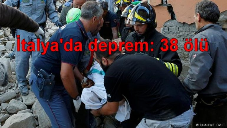 İtalya'da deprem: 38 ölü