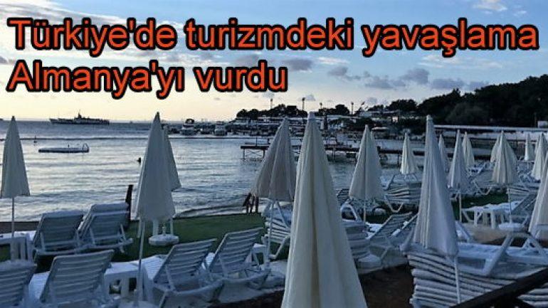 Türkiye'de turizmdeki yavaşlama Almanya'yı vurdu!