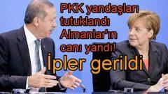 PKK yandaşları tutuklandı Almanlar'ın canı yandı!