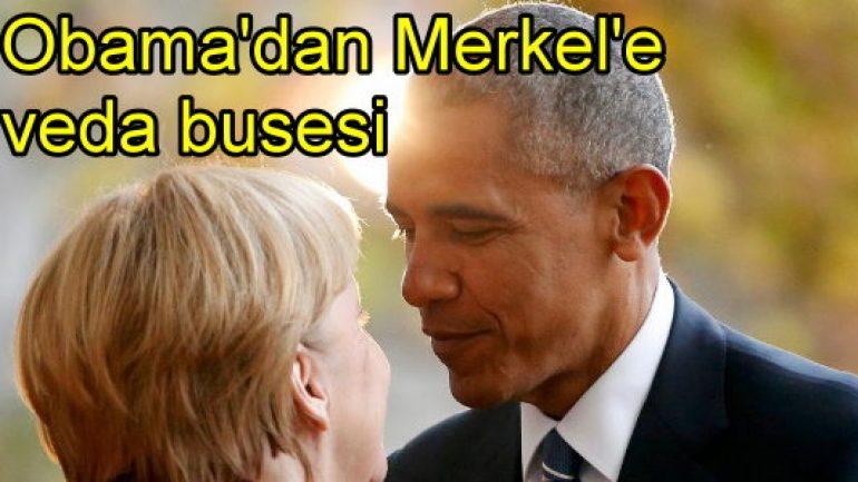 Obama'dan Merkel'e veda busesi