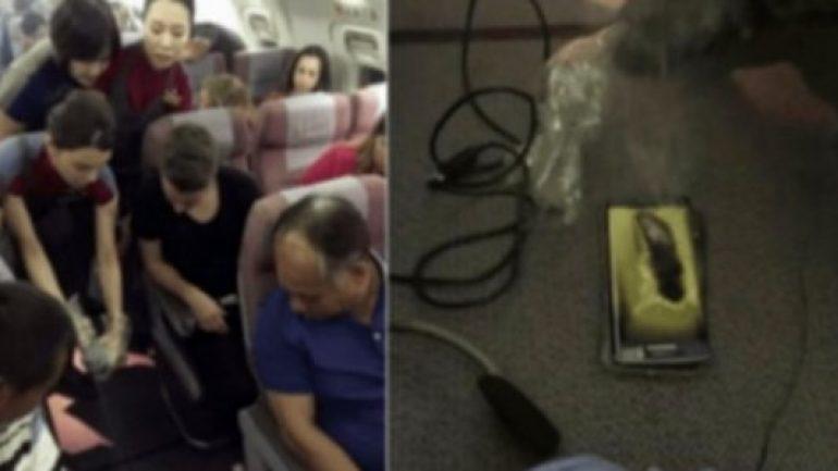 Samsung'un o telefonu uçakta patladı!