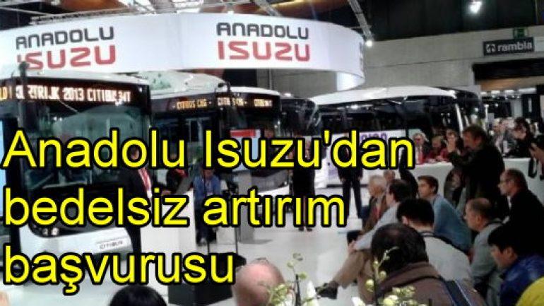 Anadolu Isuzu'dan bedelsiz sermaye artırımı