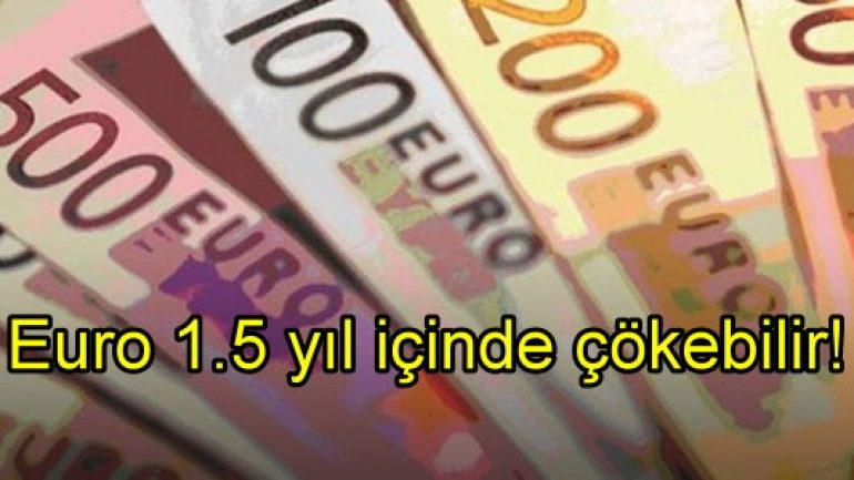 Euro 1.5 yıl içerisinde çökebilir!