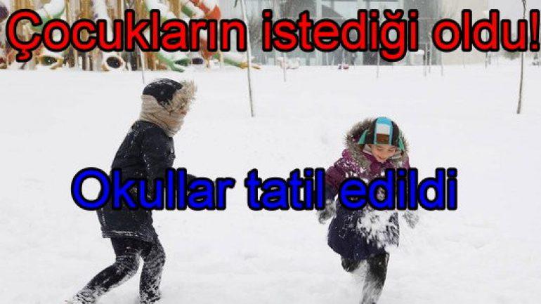 Çocukların istediği oldu: İstanbul'da okullar tatil!