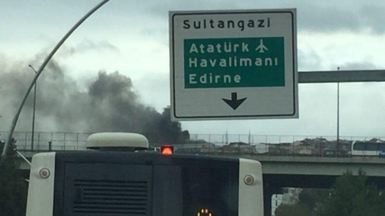Sultangazi'de huzurevi yangını!