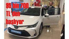 Yeni Corolla 95 bin 700 TL'denToyota Plaza Kar showroomlarında