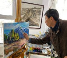 Resim galerileri ve müze inşa edildi köy sanatçıların uğrak yeri oldu